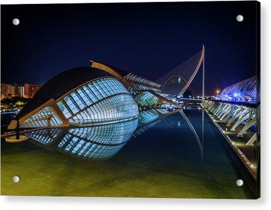 L'hemisferic In Valencia Acrylic Print
