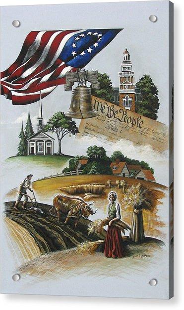 Liberty Rising Acrylic Print