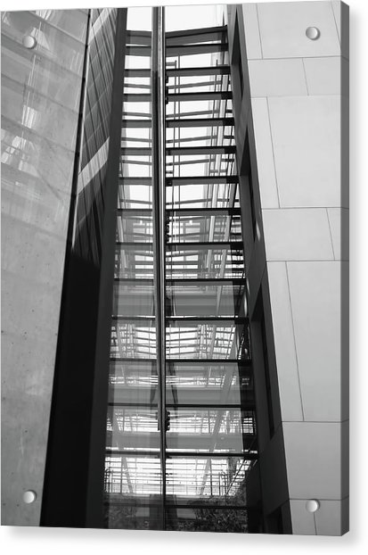 Acrylic Print featuring the photograph Library Skyway by Rona Black