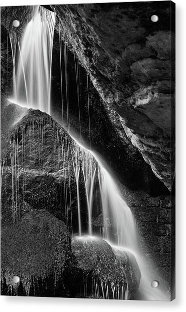 Lichtenhain Waterfall - Bw Version Acrylic Print