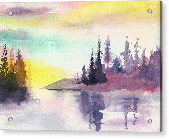 Light N River Acrylic Print