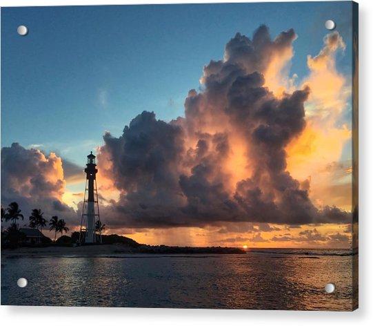 Lighthouse In Orange Acrylic Print