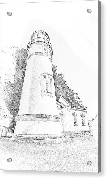 Lighthouse In Oregon Acrylic Print