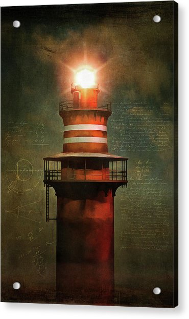 Acrylic Print featuring the painting Lighthouse by Jan Keteleer
