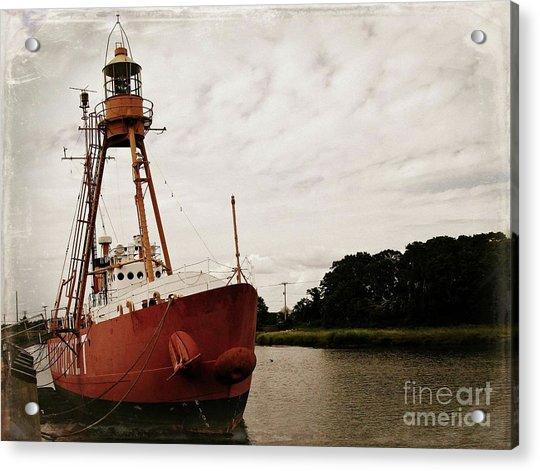 Lightship Nantucket Wlv-613 At Wareham Acrylic Print