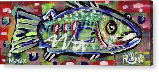 Lil'funky Folk Fish Number Fourteen Acrylic Print
