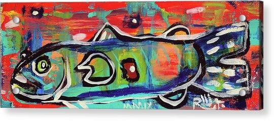 Lil'funky Folk Fish Number Seventeen Acrylic Print