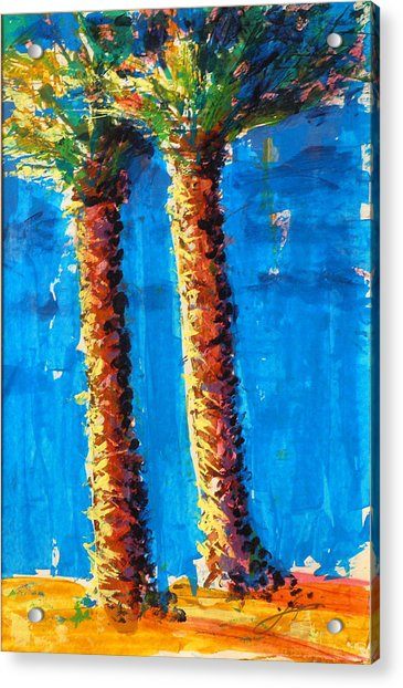 Lincoln Rd Date Palms Acrylic Print