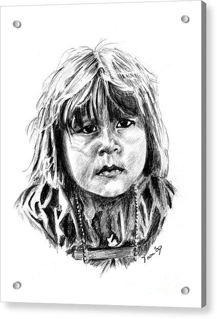 Little Comanche Acrylic Print