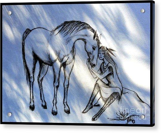 Little Deer And Wind Spirit Acrylic Print