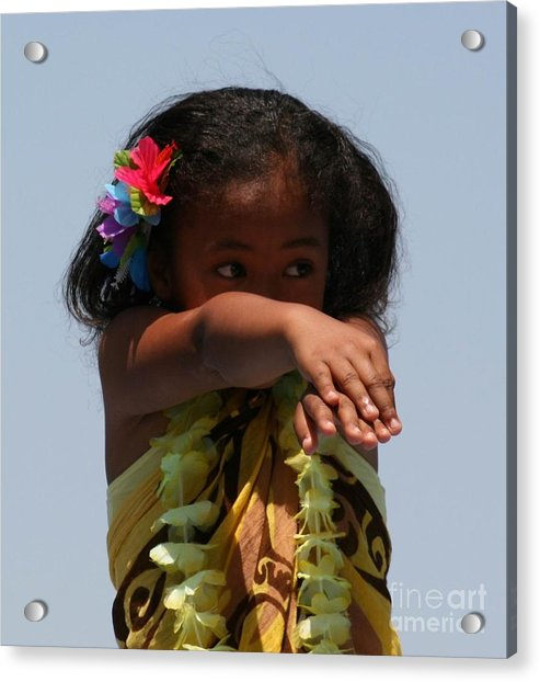 Acrylic Print featuring the photograph Little Hula Dancer by Cynthia Marcopulos