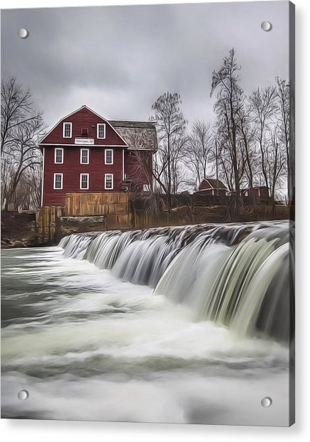 Little Red Mill Acrylic Print