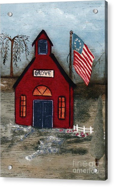 Little Red Schoolhouse Acrylic Print