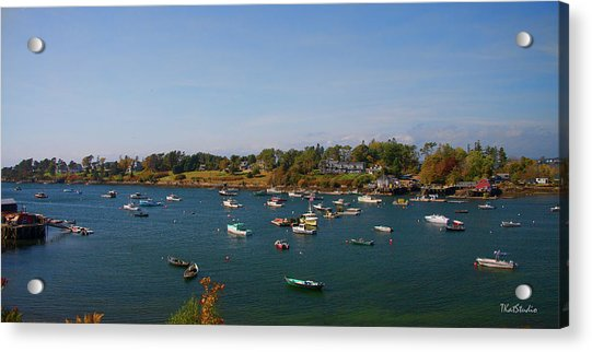 Lobster Boats On The Coast Of Maine Acrylic Print