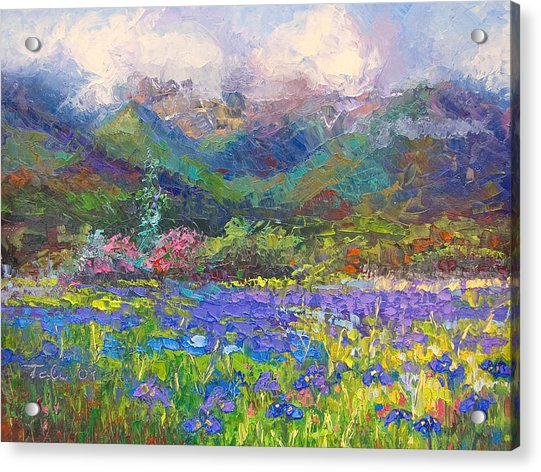 Acrylic Print featuring the painting Local Color by Talya Johnson