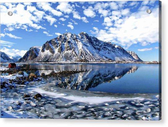 Lofoten Winter Scene Acrylic Print