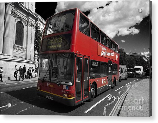 London Bus Acrylic Print