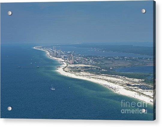 Long, Aerial, Beach View Acrylic Print