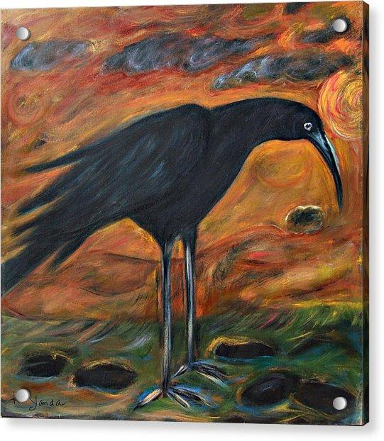 Long Legged Crow Acrylic Print