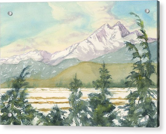 Long's Peak From Longmont Acrylic Print