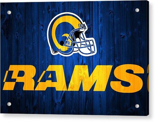 Los Angeles Rams Barn Door Acrylic Print