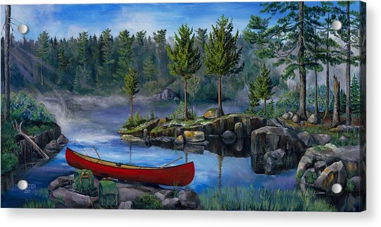 Lost In The Boundary Waters Acrylic Print
