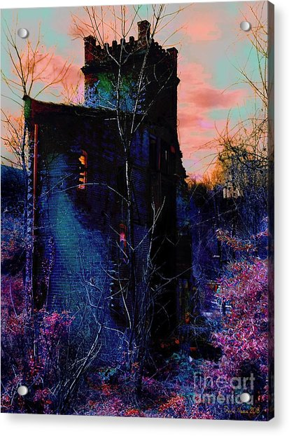 Lost Tower Of The Blue King Acrylic Print