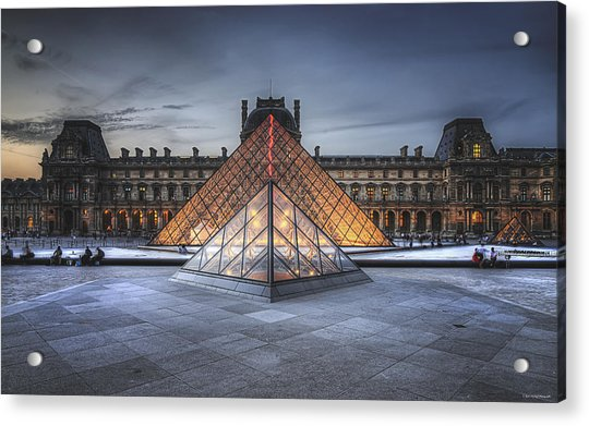 Louvre At Dusk Acrylic Print