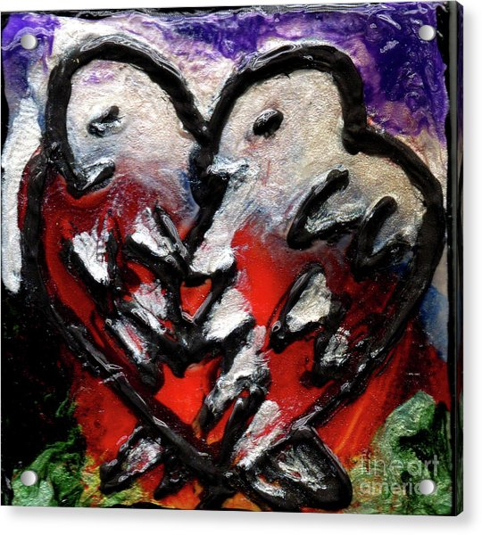 Love Birds Enamel Magnet Acrylic Print