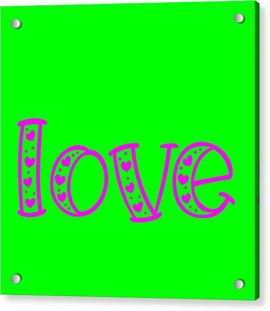 Love In Magenta And Green Acrylic Print