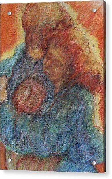 Lovers Embrace Acrylic Print