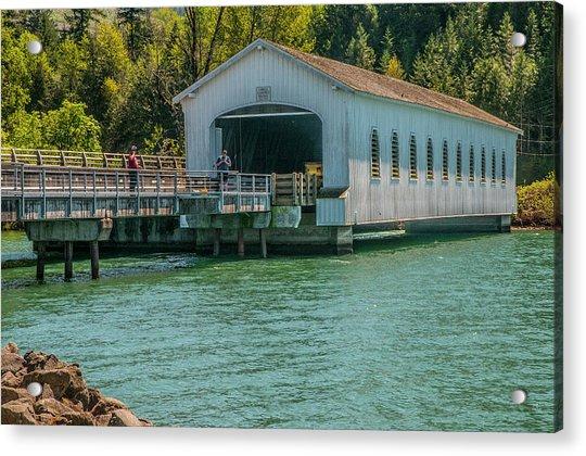 Lowell Covered Bridge Acrylic Print
