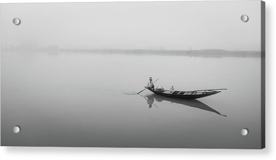 Lower Ganges - Misty Morinings Acrylic Print