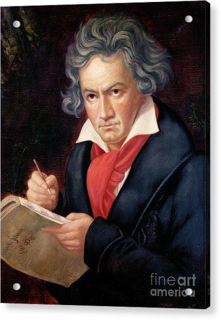 Ludwig Van Beethoven Composing His Missa Solemnis Acrylic Print