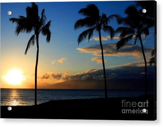 Mai Ka Aina Mai Ke Kai Kaanapali Maui Hawaii Acrylic Print