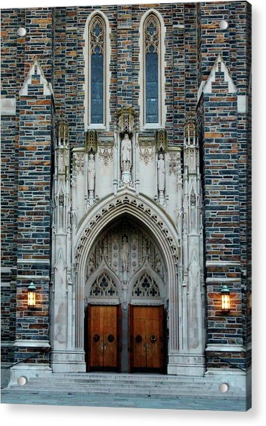 Acrylic Print featuring the photograph Main Entrance To Chapel by Cynthia Guinn