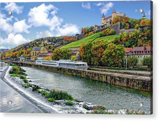 Main River Panorama Acrylic Print