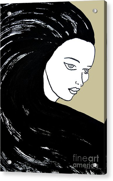Majestic Lady J0715e Lemon Grass Green Pastel Painting 12-0626 Dcd494 C8c199 Acrylic Print
