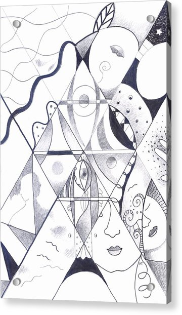 Making Points In Multiple Perspectives Acrylic Print