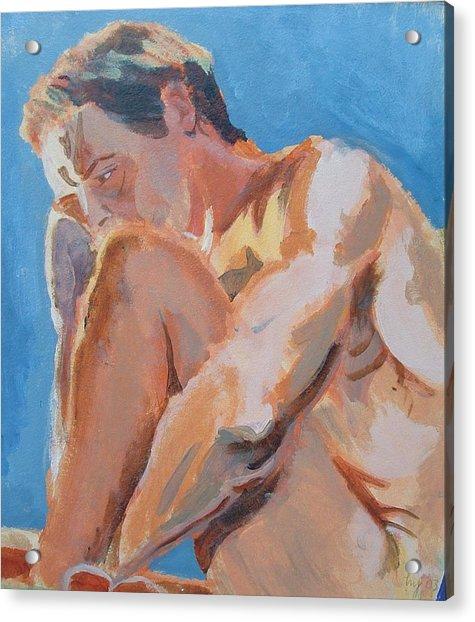 Male Nude Painting Acrylic Print