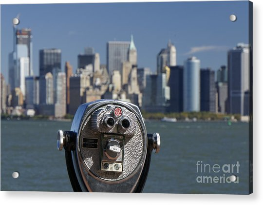 Acrylic Print featuring the photograph Manhattan Skyline New York  by Juergen Held