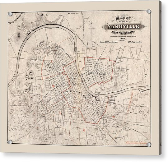 It is a picture of Printable Map of Nashville with regard to volunteer state