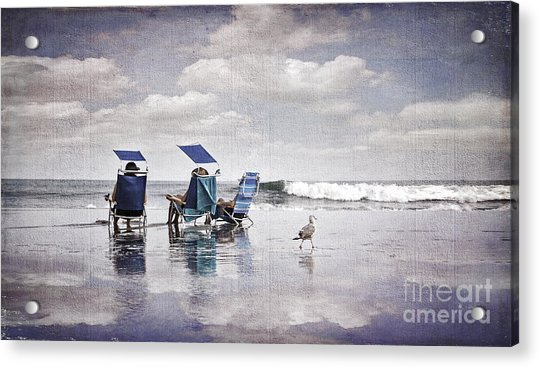 Margate Beach Relaxation Acrylic Print