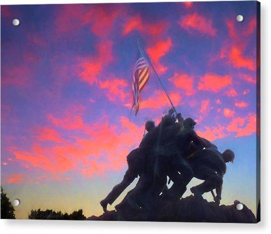 Marines At Dawn Acrylic Print