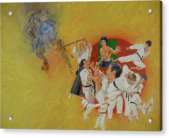 Acrylic Print featuring the painting Martial Arts by Cliff Spohn