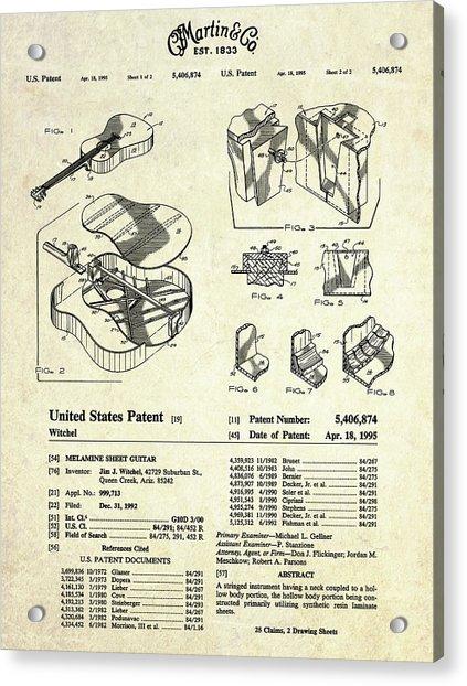 Martin Guitar Patent Art Acrylic Print