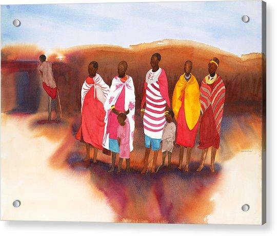 Massai Mommas Acrylic Print