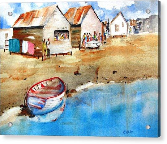 Mauricio's Village - Beach Huts Acrylic Print