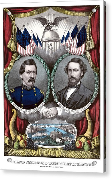 Mcclellan And Pendleton Campaign Poster Acrylic Print