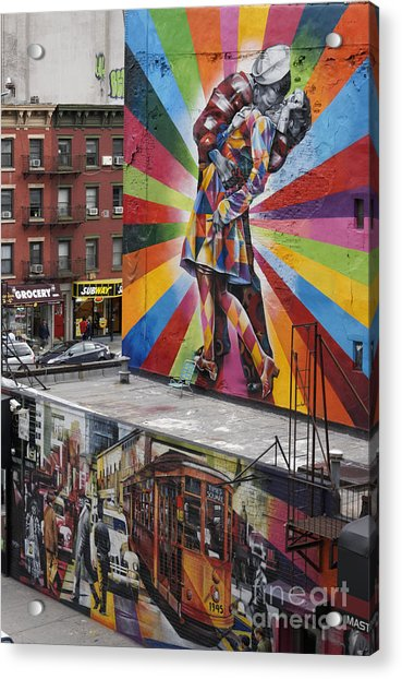 Acrylic Print featuring the photograph Meatpacking District Nyc by Juergen Held